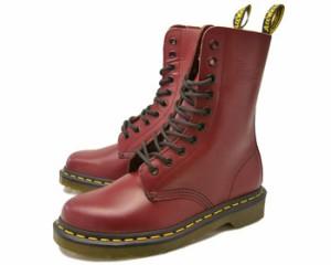 送料無料 Dr.Martens 1490Z 10 EYE BOOT CHERRY RED ドクターマーチン 10ホール ブーツ チェリーレッド メンズ レディース