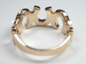 馬蹄デザインK18ピンクゴールドリング
