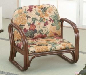 【送料無料!ポイント2%】立ち座りラクラク!和室にも洋室にもマッチ!籐思いやり座敷椅子 S110B