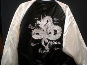 スカジャン 日本製本格刺繍のスカジャン5L 白龍