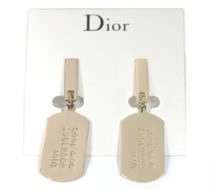 クリスチャン・ディオール 【Christian Dior】 ドッグタグイヤリング D69813