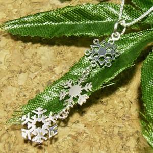 雪の結晶◇トリニティ シルバーネックレス