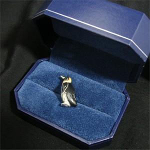 ☆送料無料☆シルバーアクセサリー☆ ペンギンのシルバーピンブローチ