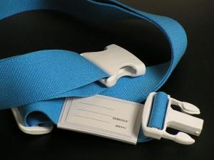 【クロネコDM便配送で送料無料】日本製 ワンタッチ スーツケースベルト ホワイトバックル  (パステルカラー)