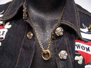 【ネックレス】ドラム型ネックレス 小☆ゴールド
