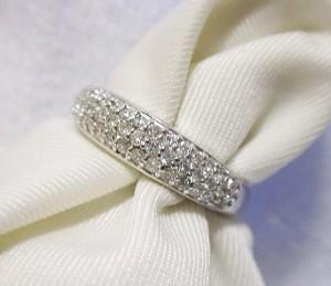 0.3ctパヴェダイヤモンドのK18ホワイトゴールドリングK18WG