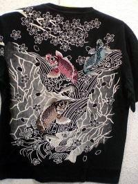 INFINITY インフィニティ 半袖和柄Tシャツ 鯉刺繍