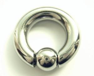 【メール便 送料無料】キャプティブ ビーズリング 0G (8mm)サージカル ステンレス スプリング ボール【ボディピアス ボディーピアス】 ┃