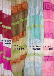 送料無料★スカーフ しわ加工 シルクタッチ...