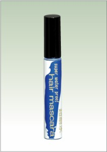 ヘアマスカラ 青 ブルー 塗るだけの簡単メッシュ 眉毛のカラーリングにも便利な眉マスカラ カラーマスカラ
