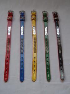 スタンダードな犬首輪(手縫い一枚皮首輪)#21