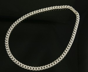 国産シルバー silver925 キヘイネックレス(幅4.9mm/長さ60cm/35g)