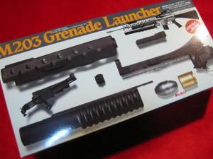 【遠州屋】 M203 グレネードランチャー プラモデル 「弾丸が飛ぶ!」 ARII  (市/R)☆