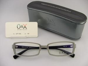 【30%OFF以上!】 O&X NEW YORK オーアンドエックス めがねフレーム 75A-04 ケース付 個性遊び 度付対応可 セル スーツ