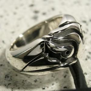甲丸ハードデザインシルバーリング 15〜23号/指輪/メンズ/シルバー925/大きいサイズ