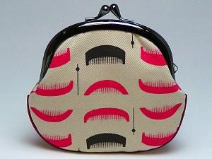 和柄がま口財布大 小銭入れ コインケース メンズレディース 日本製 和風おしゃれカジュアル かわいい 大きいサイズ便利 小物入れ(色K122)