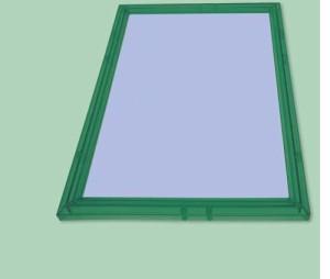 クリスタルパネル【108ピース用(25.7×18.2cm) グリーン】エポック社