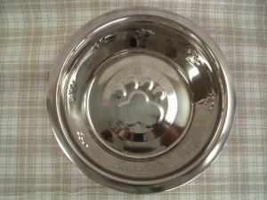 足柄の付ステンレス皿型食器M