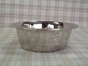 足柄の付ステンレス皿型食器L