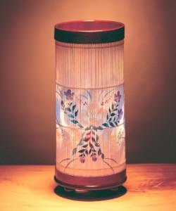 【送料無料!ポイント2%】優雅な和の灯り!伝統工芸品『和風スタンド インテリア提灯』芙蓉&鉄仙