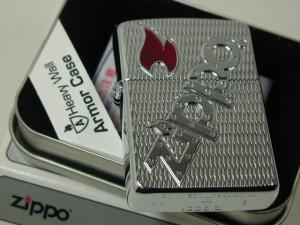 ジッポーZippo アーマー 深堀ロゴ・ファイヤー炎USA#20991 ARMOR