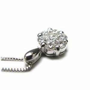 0.5ct 7粒 ダイヤモンド ネックレス K18WG【ケース&保証書付】 送料無料