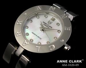 アンクラーク レディースウォッチ ハート&クロスチャーム ホワイトシェル AM-1020-09
