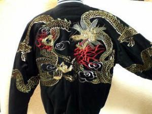 スカジャン 五匹龍 日本製本格刺繍のスカジャン