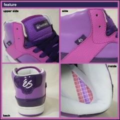 【送料無料】 エス プリクエル ミッド パープル スケート スニーカー (ES PREQUEL MID Purple)