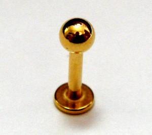【メール便 送料無料】ゴールド ラブレット ボール 14GA(1.6mm)サージカルステンレス316L 【ボディピアス ボディーピアス】 ┃