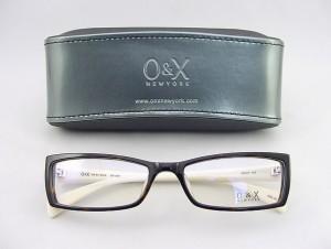 【30%OFF以上!】 O&X NEW YORK オーアンドエックス メガネフレーム 80A-01 セル 度付対応可 スクエアタイプ