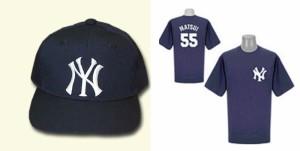 NYヤンキ−ス MATSUI 55 Tシャツ&ベースボールキャップ【M】