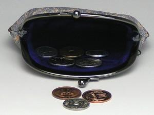 和柄がま口財布大 小銭入れ コインケース メンズレディース 日本製 和風おしゃれカジュアル かわいい 大きいサイズ便利 小物入れ(色K5)