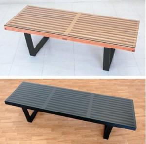 【送料無料!ポイント2%】ネルソンベンチがテーブルに!ネルソンベンチ152.5cm専用ガラス天板