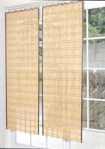 【送料無料!ポイント2%】天然素材で木陰のぬくもり!竹すだれカーテン 4タイプ2色