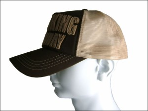 超ビッグサイズ65cmメッシュキャップワーキングホリデー茶 帽子 大きいサイズ メンズ