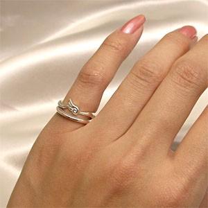 天使の羽根★エンジェルフェザーリング 3〜7号 /レディース アクセサリーウィング 指輪