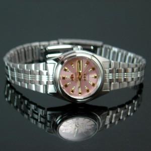 【オリエント/ORIENT】レディース腕時計 自動巻 メタリックピンク文字盤 メタルベルト WV0101NQ 海外モデル