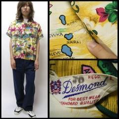 VINTAGE Desmond (50's三角タグ) アロハシャツ