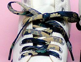【和柄靴紐】ちりめんくつひも(ノーマル)。靴ひもでお手軽にスニーカーを和柄に。洗濯しても大丈夫な日本製クツヒモ。(色13)
