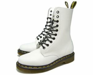 送料無料 Dr.Martens 1490Z 10 EYE BOOT WHITE SMOOTH ドクターマーチン 10ホール ブーツ ホワイト レースアップ メンズ レディース