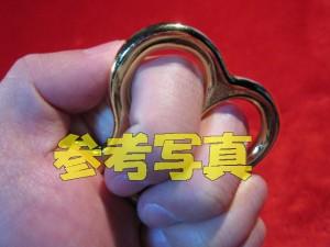 【遠州屋】 2指 メリケンナックル キーホルダー ゴールド (AW-86)