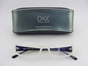 【30%OFF以上!】 O&X NEW YORK オーアンドエックス メガネフレーム 73-05 個性的 ユニーク ケース付 ハッカ飴カラー