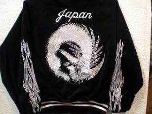 光る!スカジャン 鳳凰 日本製本格刺繍