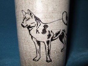 ★陶器オリジナルグラス<柴犬> 350ml♪誕生祝・プレゼントに♪