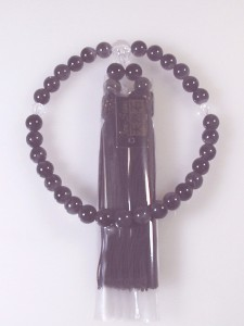 新品 高級天然石数珠 アメジスト(紫水晶)念珠