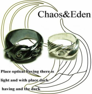 ペアリング 刻印無料 送料無料 FISS シルバー 大きいサイズ ペアルック 天使と悪魔の羽をモチーフに「chaos&Eden」27,200円