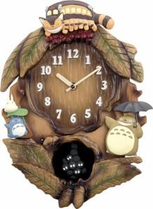 リズム時計工業 となりのトトロ振子時計 4MJ837MN06 壁掛け時計 トトロM837N アナログ マックロクロスケの振子付 掛時計 キャラクター