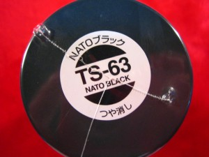 【遠州屋】 タミヤ スプレー塗料 (TS-63) NATOブラック つや消し (市)★