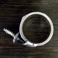日本刀と竹林モチーフ シルバーリング 15〜30号 【地 -chi-】 メンズアクセサリー 指輪 和風 送料無料 【ブランド仁-ZIN-】